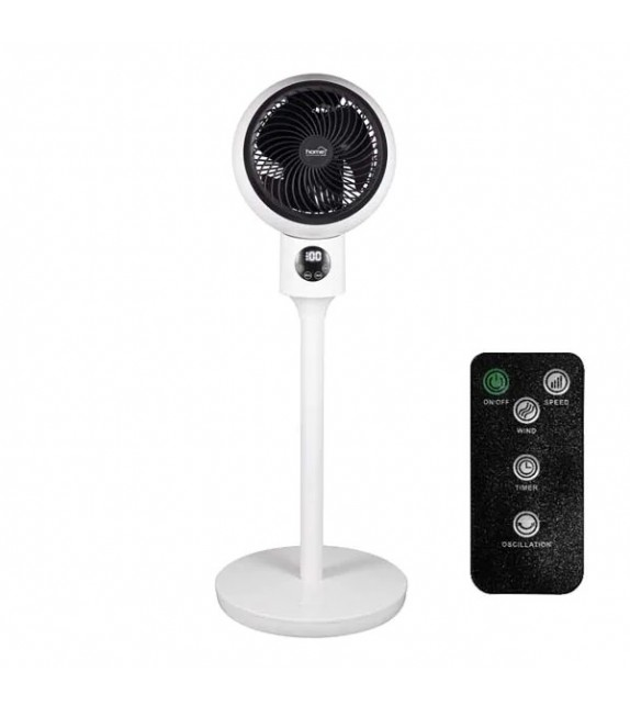 Ventilator cu picior Home SFR 20, 3 trepte de ventilatie, 50W, cu telecomanda, alb