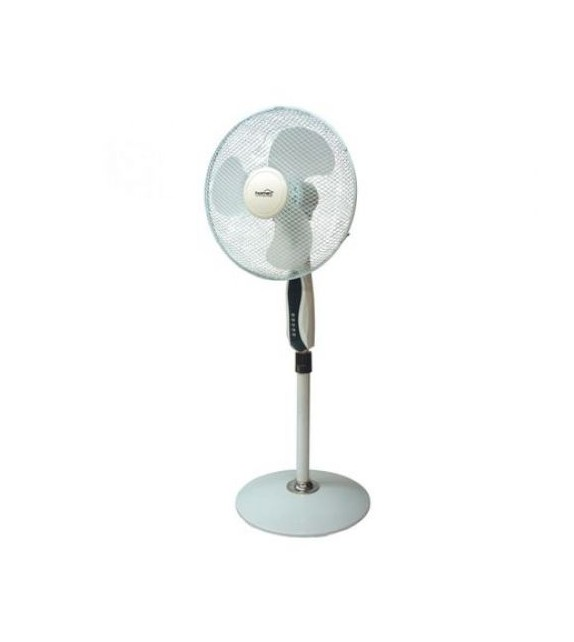 Ventilator cu picior Home SFP 40, 3 trepte de ventilatie, 45W, cu telecomanda, alb