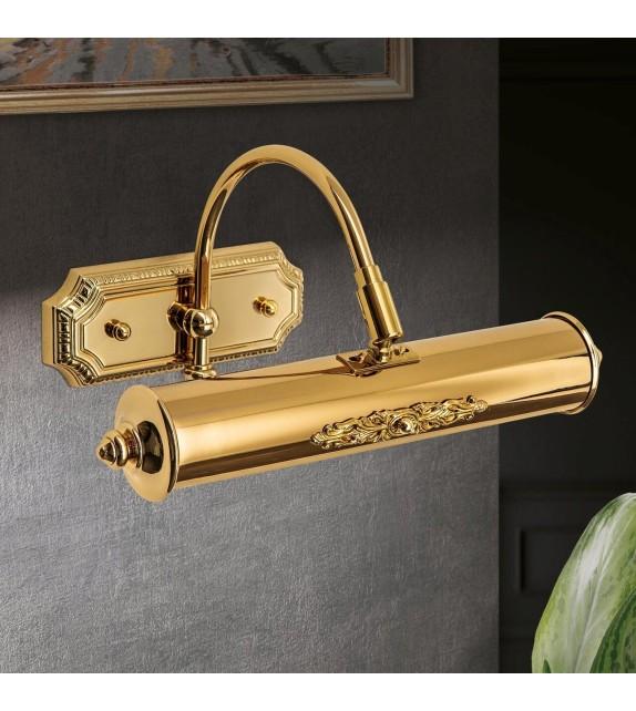 Lampa de tablou HERMITAGE cu 1 brat reglabil, placată cu aur 24K, G9, 2x28W dimabil