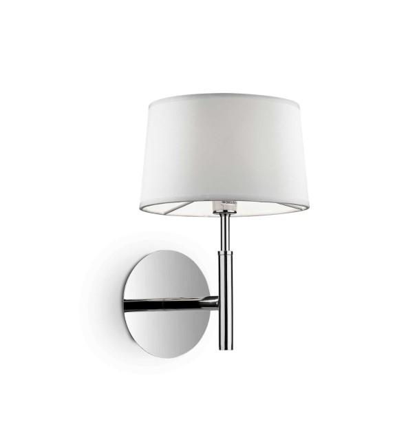 Aplica de perete HILTON AP1 075471 Ideal Lux, crom-alb
