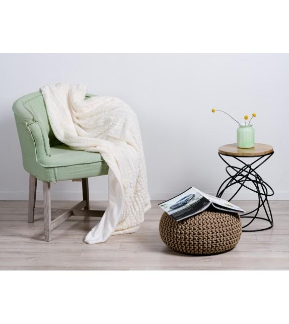 Patura decorativa imitatie blana Mendola Home Textiles, 150x200cm, crem