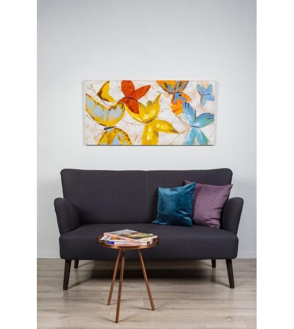 Tablou pictat manual Play B, 60x120cm