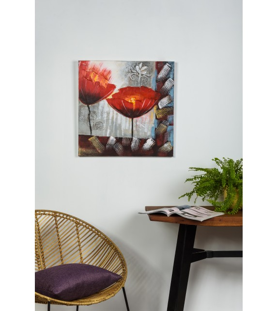 Tablou pictat manual Sisters, dimensiunea 60x60cm