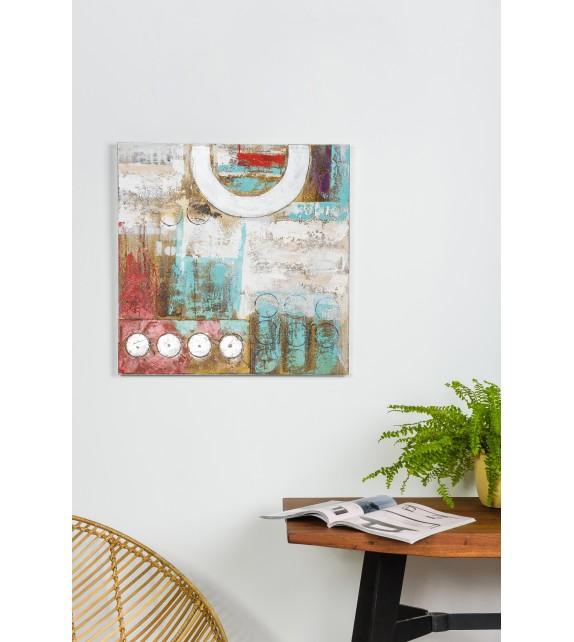 Tablou pictat manual Fistic, dimensiunea 60x60cm