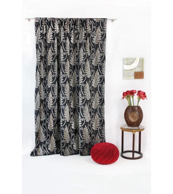 Draperie Escape Mendola Home Textiles, 210x260cm, cu rejansa, negru
