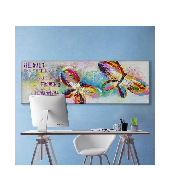Tablou pictat manual Butterflies, dimensiunea 40x120cm
