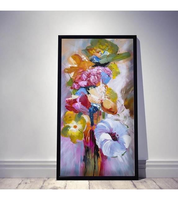 Tablou pictat manual Freshness, 120x60cm