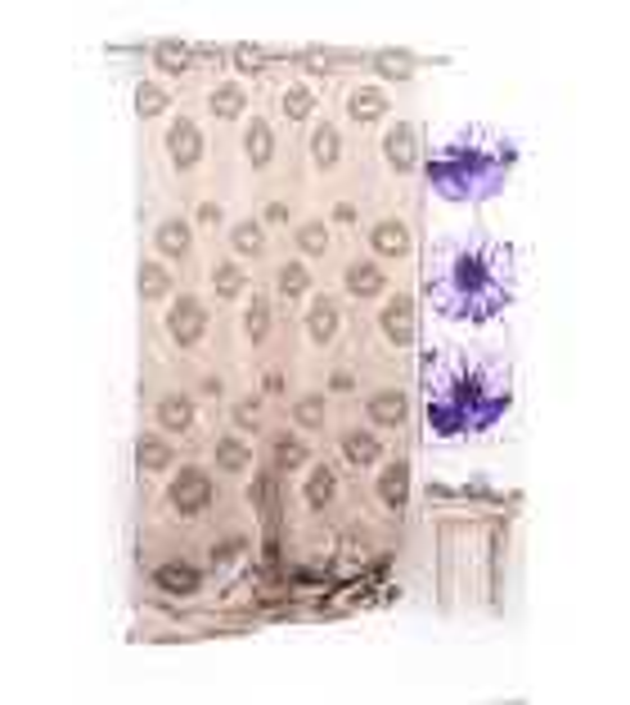 Metraj draperie Izolde cu flori, latime 280cm, bej