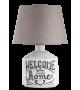 Veioza moderna Petra 4386 Rabalux, E14 40W, ceramica/textil, bej-alb