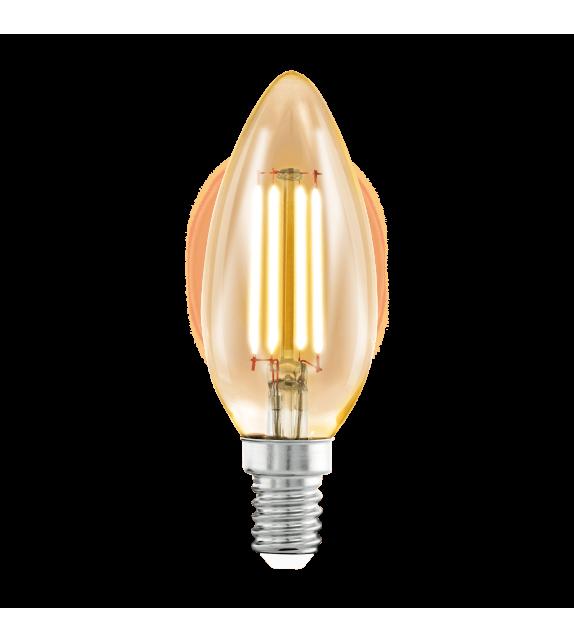 Bec decorativ LED cu filament - 11557 Eglo, E14, 4W, 220lm, lumina calda