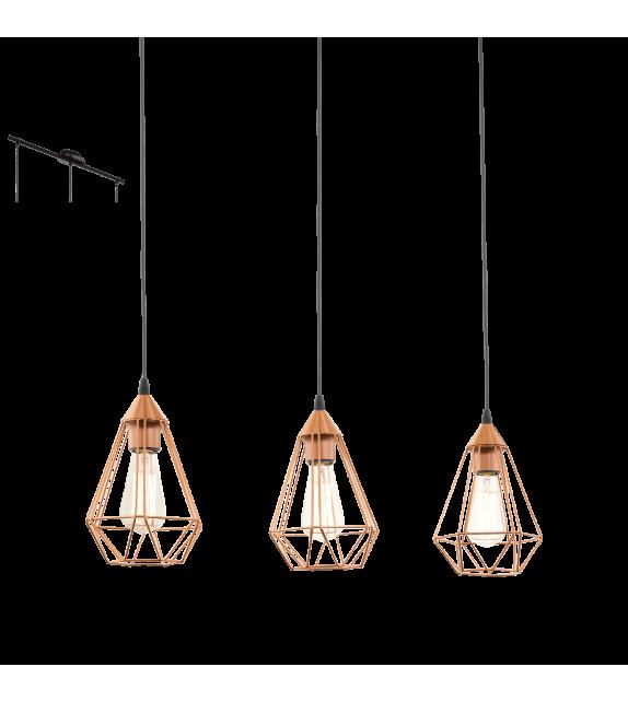 Pendul Tarbes - 94195 Eglo, stil scandinav, negru-cupru