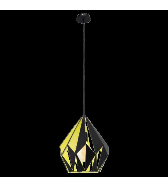 Pendul Carlton 1 - 49256 Eglo, stil scandinav, negru-galben