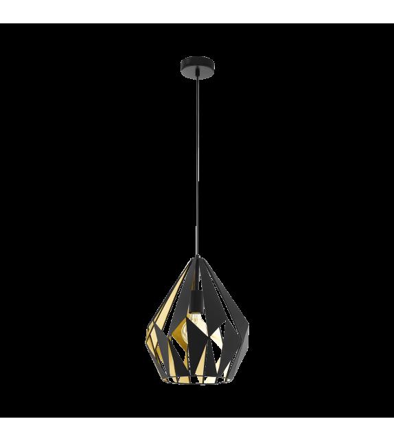 Pendul Carlton 1 - 49931 Eglo, stil scandinav, negru-auriu