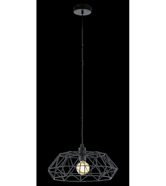 Pendul Carlton 2 - 49487 Eglo, stil scandinav, negru