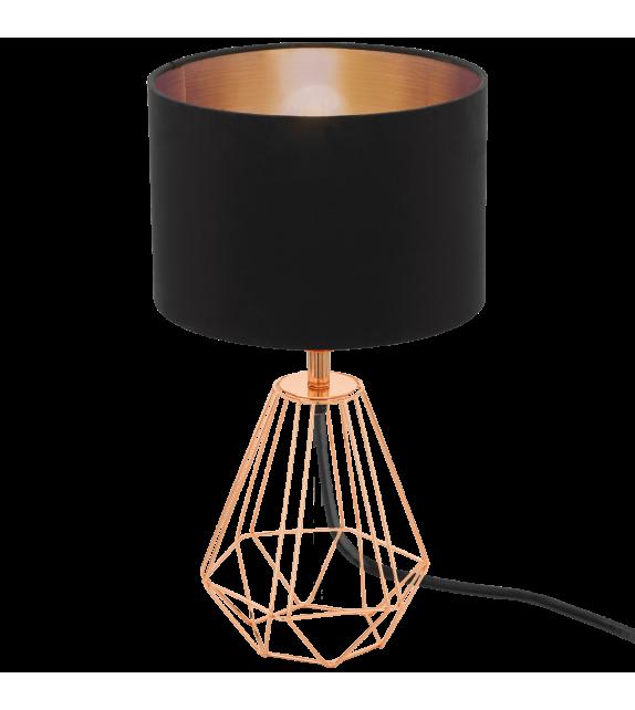 Veioza Carlton 2 - 95787 Eglo, stil scandinav, negru-cupru