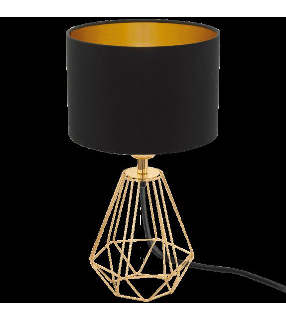 Veioza Carlton 2 - 95788 Eglo, stil scandinav, negru-auriu
