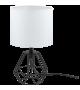 Veioza Carlton 2 - 95789 Eglo, stil scandinav, alb-negru