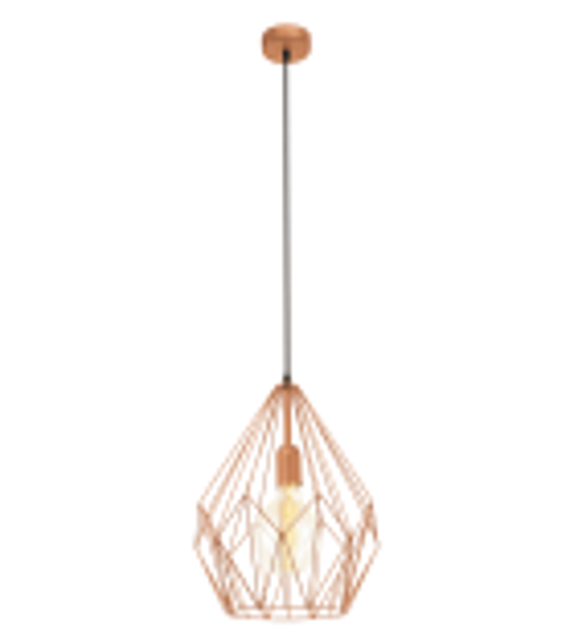 Pendul Carlton - 49258 Eglo, stil scandinav, cupru