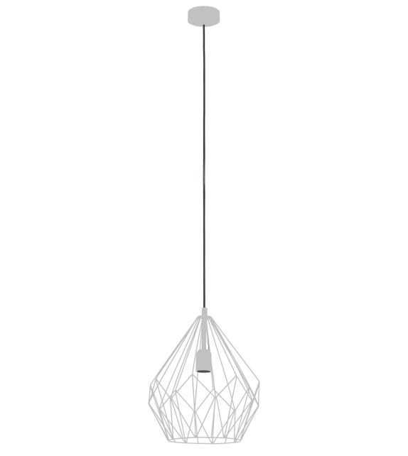 Pendul Carlton - 49935 Eglo, stil scandinav, argintiu