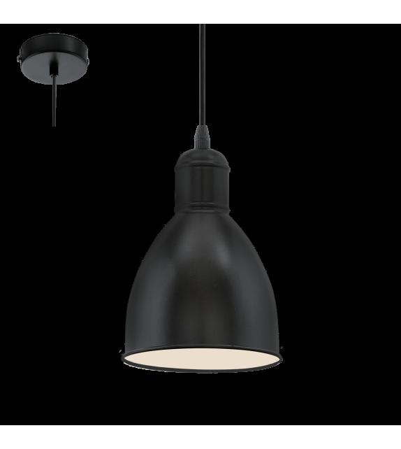 Pendul Priddy - 49464 Eglo, 1xE27, stil scandinav, negru