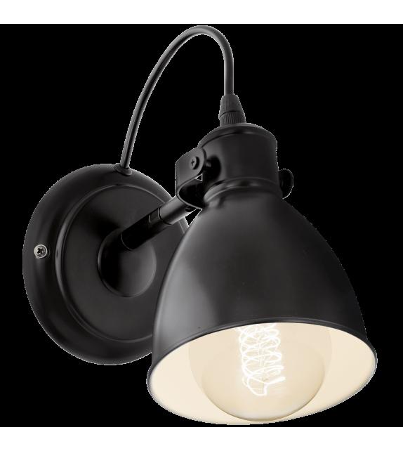 Aplica de perete Priddy - 49468 Eglo, stil scandinav, negru