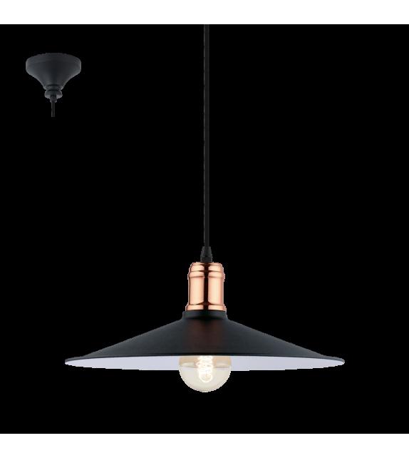 Pendul Bridport - 49452 Eglo, stil scandinav, negru-cupru