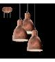 Pendul Priddy - 49493 Eglo, 3xE27, cupru antichizat
