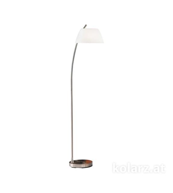Lampadar Malmo - Kolarz, placat nickel, sticla alba