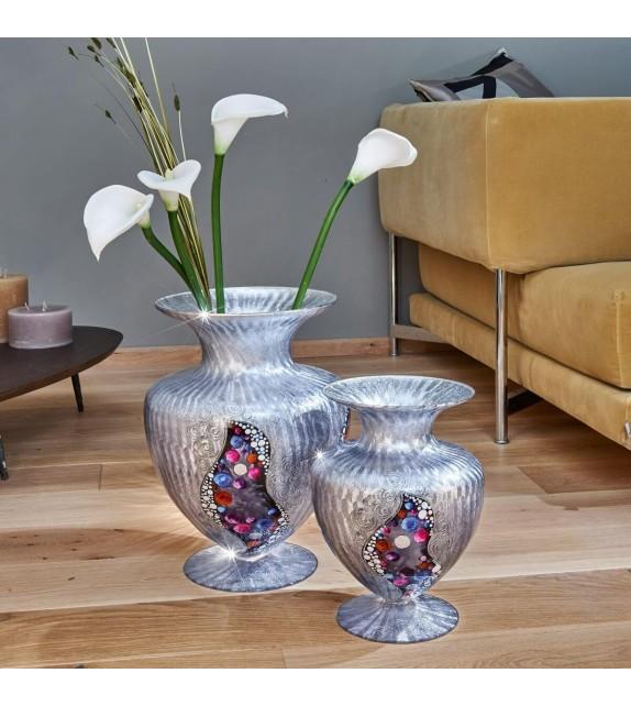 Vaza decorativa ANFORA HOME - Kolarz, Kiss Argintiu, 30/43