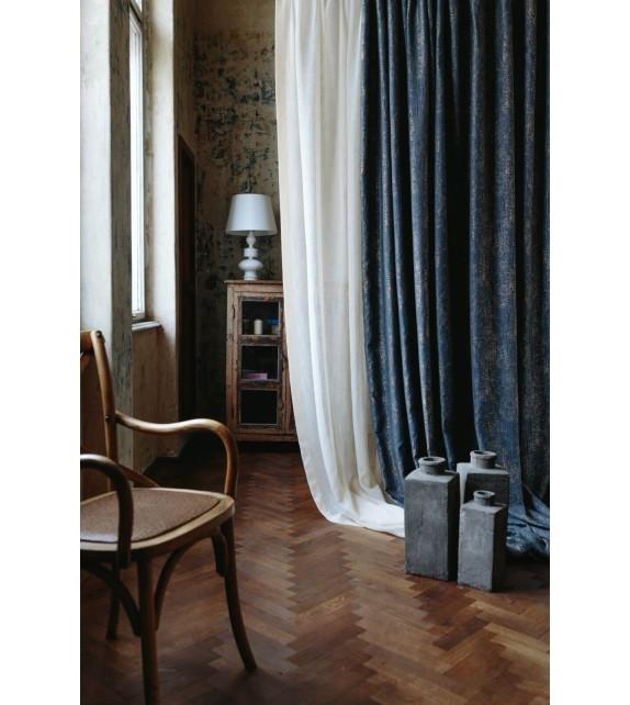 Metraj draperie cu decor Wayland, latime 290 cm, albastru