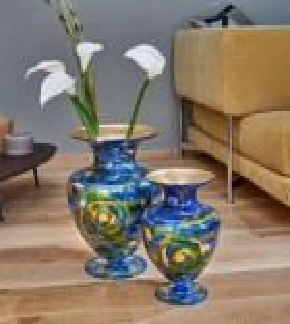 Vaza decorativa ANFORA HOME - Kolarz, Aqua Blue, 30/43