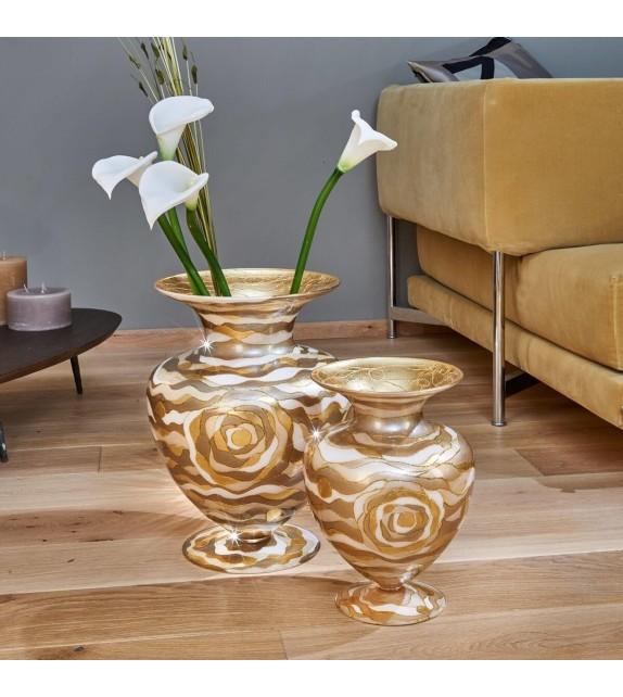 Vaza decorativa ANFORA HOME - Kolarz, Aqua Champagne, 30/43