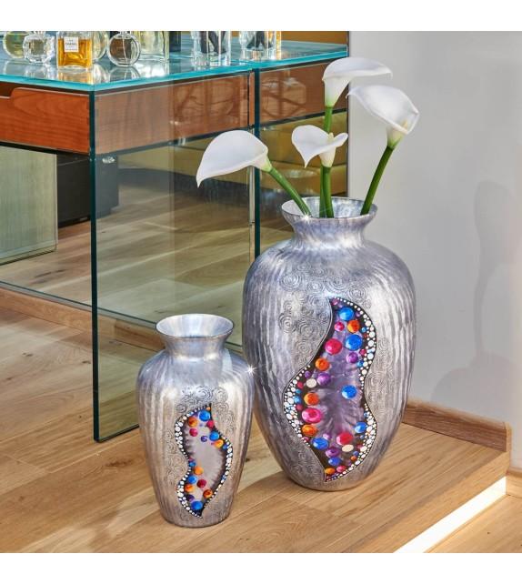 Vaza decorativa ANFORA HOME - Kolarz, Kiss Argintiu, 21/33