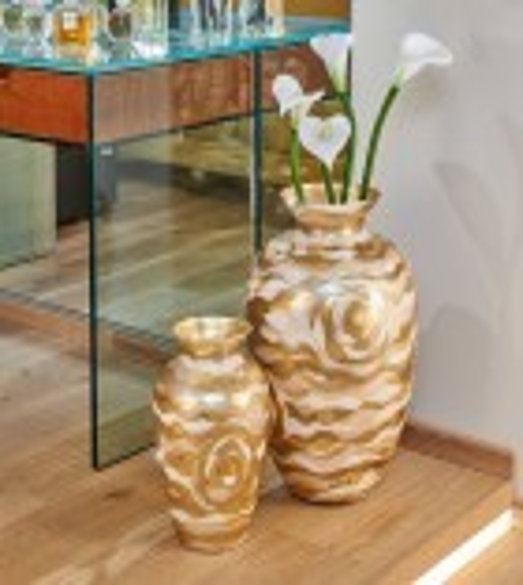 Vaza decorativa ANFORA HOME - Kolarz, Aqua Champagne, 21/33