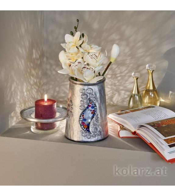 Vaza decorativa ANFORA HOME - Kolarz, Kiss Argintiu, 16/20