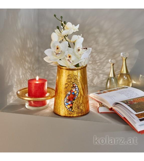 Vaza decorativa ANFORA HOME - Kolarz, Kiss Auriu, 16/20