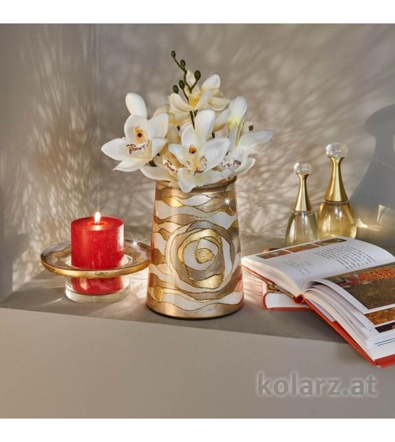 Vaza decorativa ANFORA HOME - Kolarz, Aqua Champagne, 16/20
