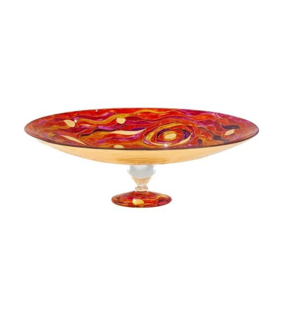 Fructiera sticla FRUTTA - Kolarz, Aqua Red, 40/13