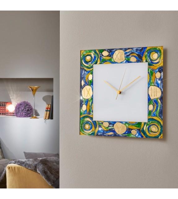 Ceas decorativ de perete TIME - Kolarz, Aqua Blue, 30x30cm