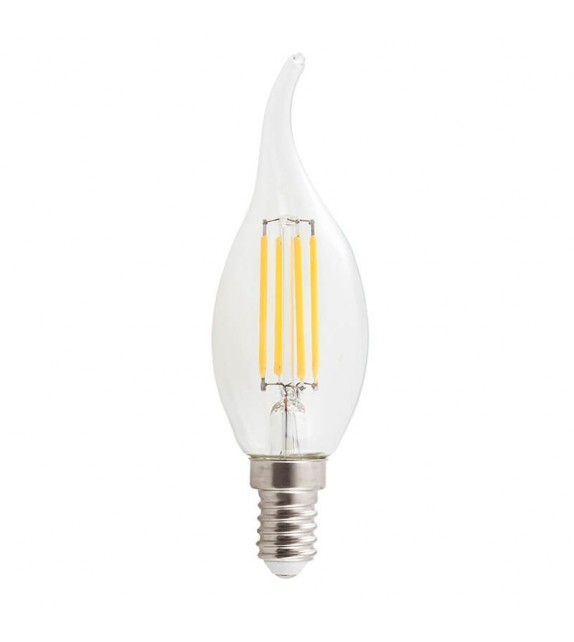 Bec LED Rabalux cu filament, E14, 4W, 450lm, lumina calda