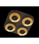 Plafoniera Brigitte - 2556 Rabalux, LED 4x5W, maro-auriu