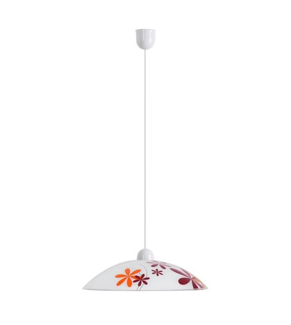Pendul Iris - 1800 Rabalux, E27, 1x60W, alb-multicolor