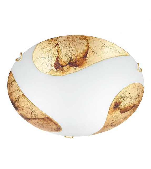 Plafoniera Art Gold - 1942 Rabalux, E27, 2x60W, alb-auriu