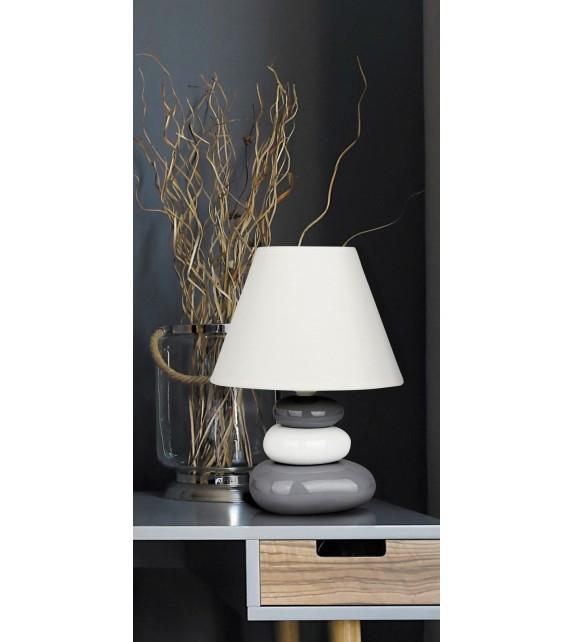 Veioza moderna SALEM 4948 Rabalux, E14 40W, ceramic-textil, gri-alb