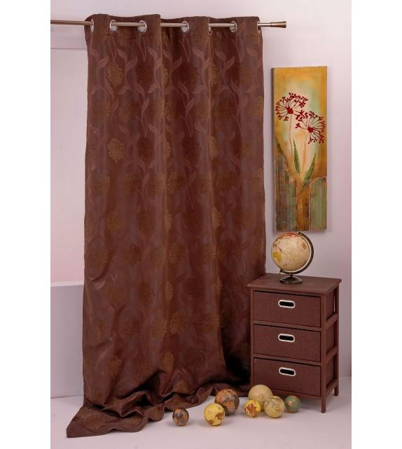 Draperie Garden Curtain Mendola Home, 140x245cm cu inele, maro