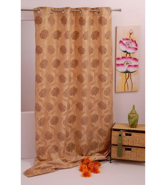 Draperie Garden Curtain Mendola Home, 140x245cm cu inele, bej