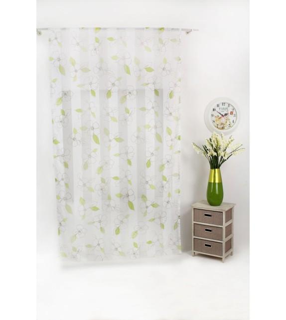 Perdea Layla Mendola Home Textiles, 140x245cm, cu rejansa, verde