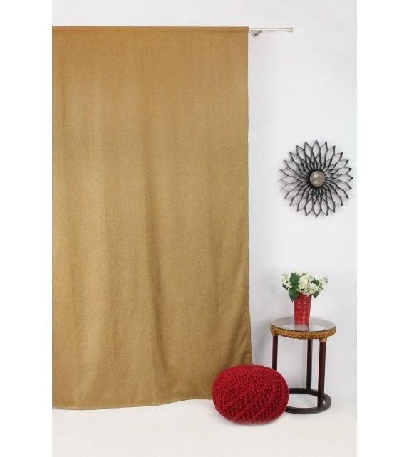 Draperie Jennifer Mendola Home Textiles, 140x245cm, cu rejansa, miere