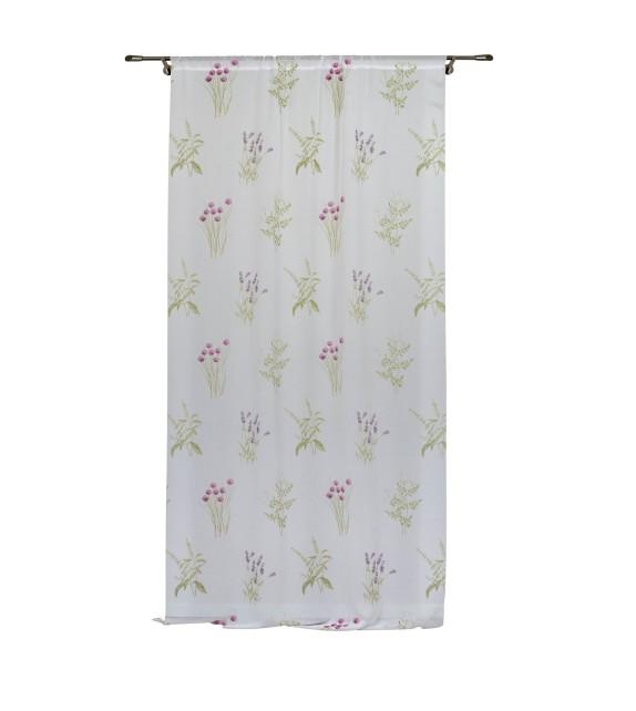 Perdea Felicity Mendola Home Textiles, 400x245cm, cu rejansa, lavanda