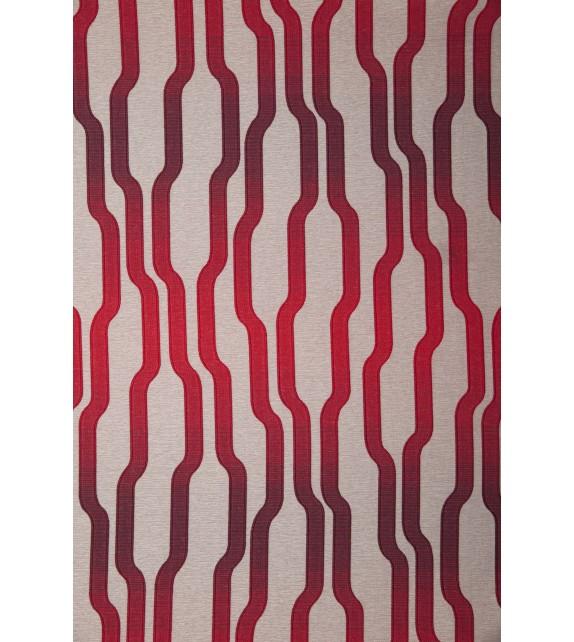 Draperie Acapella Mendola Home, 140x245cm cu inele, rosu